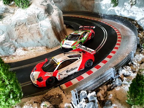 scalextric-1:32-slot-car-layout-the-build-so-far...16ft-x-4ft