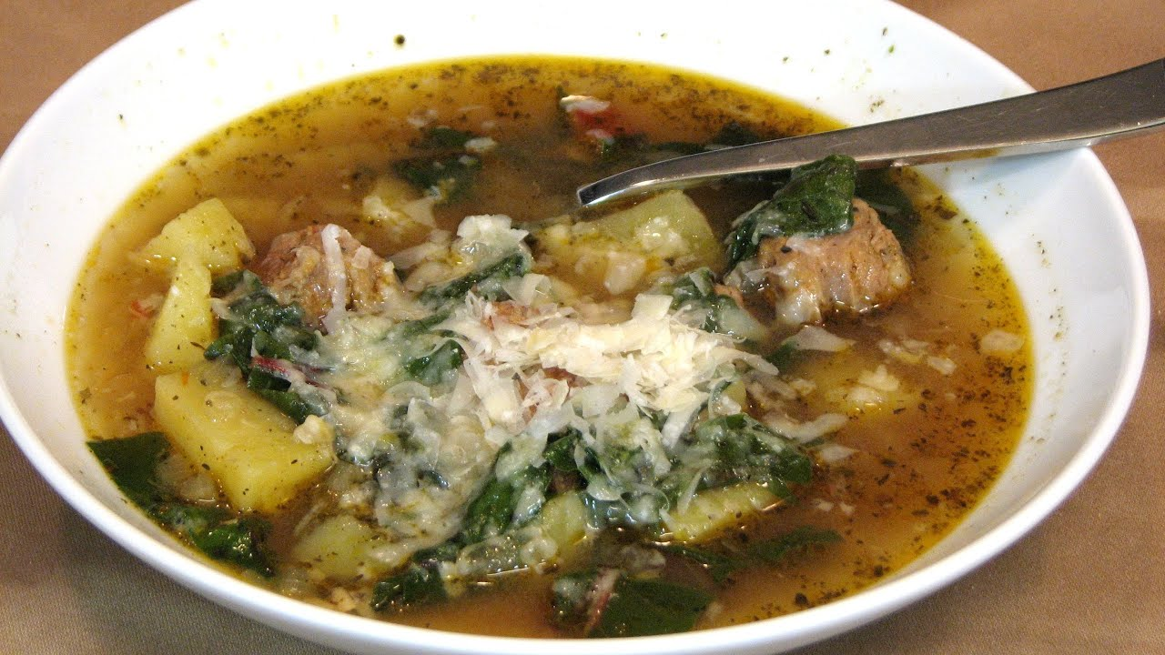 Slow Cooker Sausage, Potato and Swiss Chard Soup -- Lynn's ...