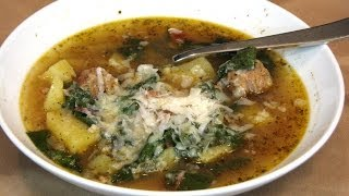 Slow Cooker Sausage, Potato And Swiss Chard Soup -- Lynn's Recipes