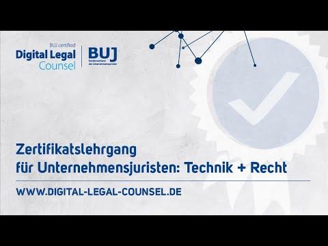 BUJ certified Digital Legal Counsel