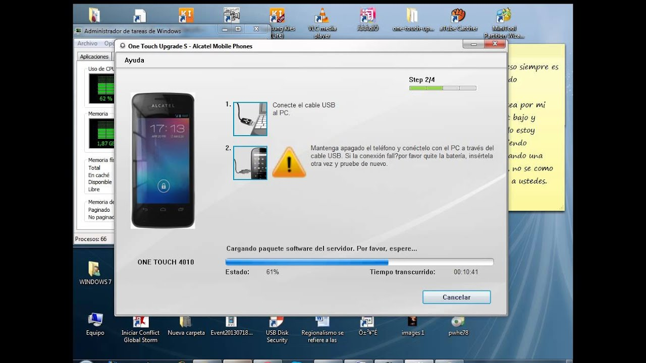 Recuperar Tpop Alcatel 4010a con Upgrade - YouTube