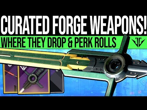 Destiny 2 | How to Get CURATED FORGE WEAPONS! All Masterwork Frame Drops & Perk Rolls (Black Armory) thumbnail