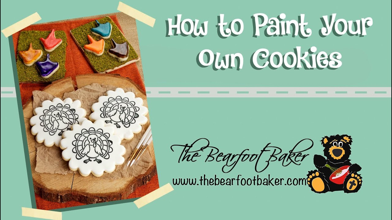 How to make paint your own turkey cookies the bearfoot baker how to make paint your own turkey cookies the bearfoot baker amipublicfo Images
