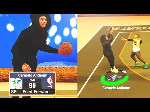 HOODIE CARMELO ANTHONY ON NBA 2K17 MyPARK! • INSANE 98 OVERALL NBA SUPERSTAR