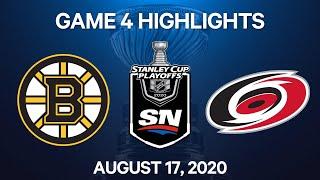 NHL Highlights   1st Round, Game 4: Bruins vs. Hurricanes – Aug. 17, 2020