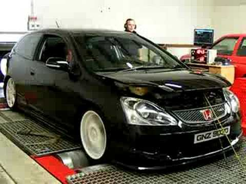 EP3 Honda Civic Type R 253bhp n/a Rolling Road dyno best vtec sound ...