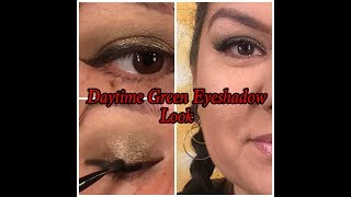 Green Daytime Eyeshadow Look Tutorial