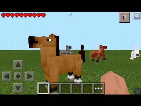 CAVALOS NO MCPE !!! - Horses Mod Para Minecraft PE - 0.10.5