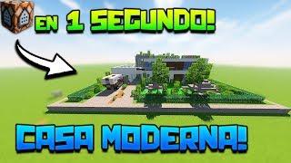Minecraft | CASA MODERNA con un SOLO COMANDO! **INCREIBLE** | SIN MODS!! | COMANDOS