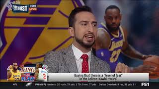 """Nick Wright: Buying that there is a """"Level of fear"""" in the LeBron-Kawhi rivalry?"""