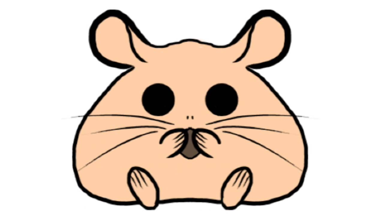 cute hamster drawing
