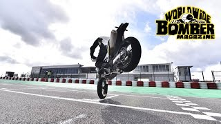 Worldwide Bomber Magazine Husqvarna 701 Supermoto first ride