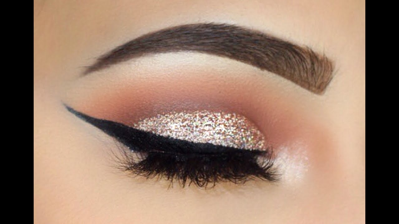 Sliver Glitter And Bold Wing Makeup Tutorial Sofie Bella