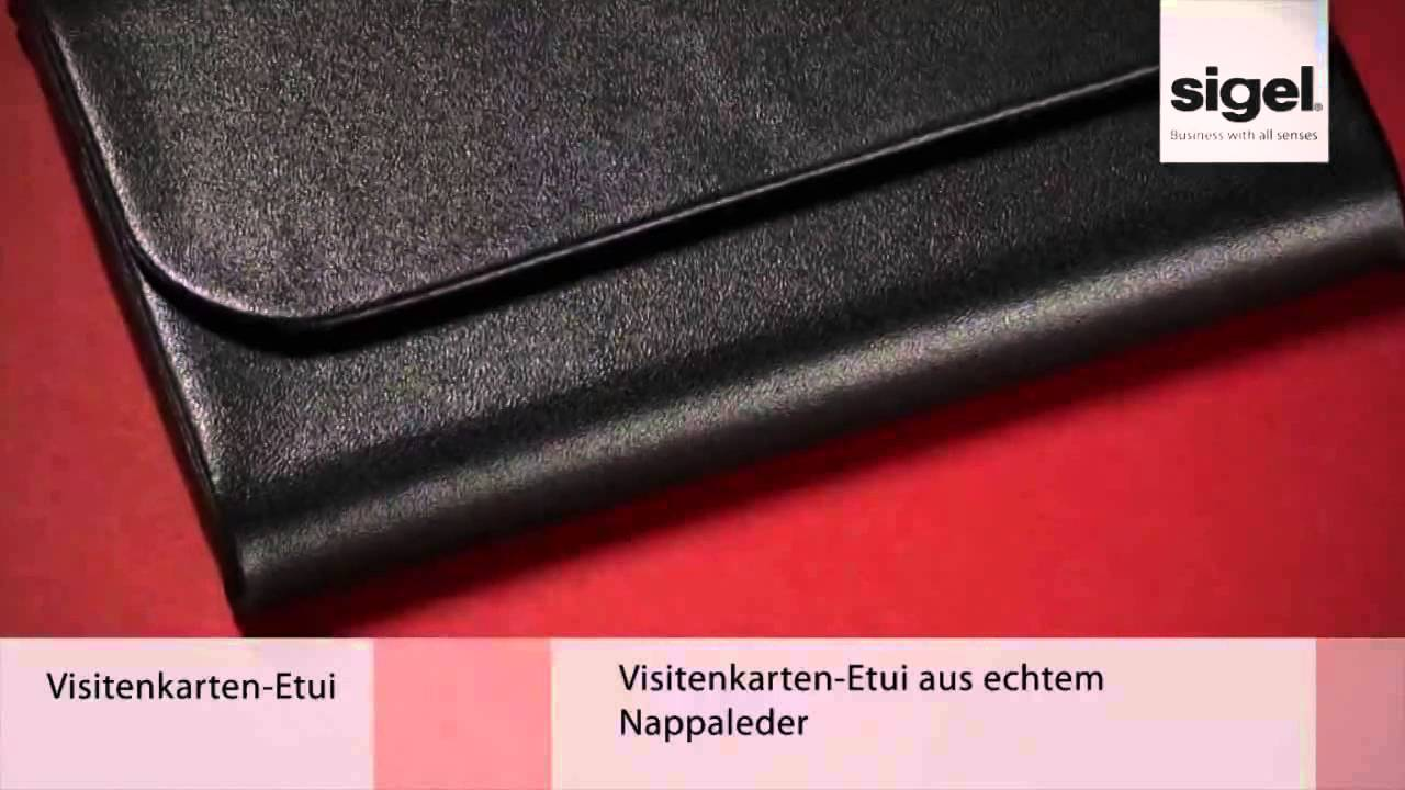 Sigel Vz270 Torino Visitenkartenetui Leder Magnet Für 25 Karten Nappaleder Schwarz