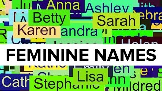 500+ Most Poular Girl Names in U.S. History 1880-2014