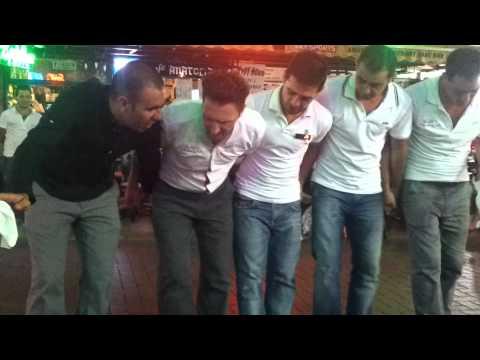 Staff dance at Sean`s Karaoke Bar in Kusadasi part2