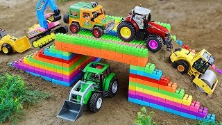 Bridge Toy Vehicles, Dump Trucks Building Blocks Toys