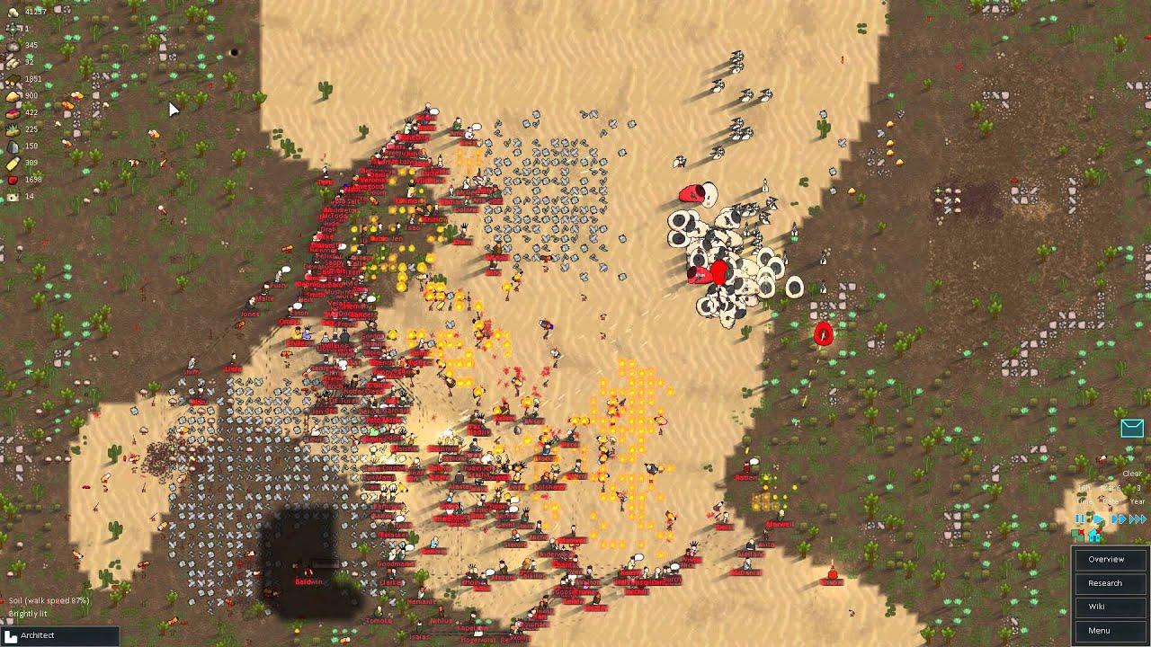 RimWorld  Alpha 5  Mechanoids vs Raiders