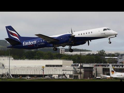 Eastern Airways Saab2000 Inaugural London City to Newcastle Airport