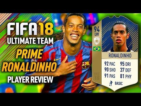 FIFA 18 PRIME RONALDINHO (94) *ICON* PLAYER REVIEW! FIFA 18 ULTIMATE TEAM!
