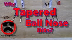 Tapered Ball Nose Bits - Part 34 - Aspire and VCarve For Absolute Beginners
