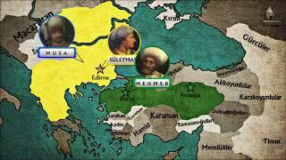 Osmanl Devleti 39 Nde Fetret Devri Suleyman Sa Musa Ve Mehmed Celebi Haritada Tarih