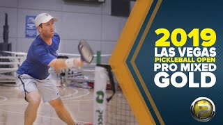 Pro Mixed Doubles GOLD from the 2019 Las Vegas Pickleball Open