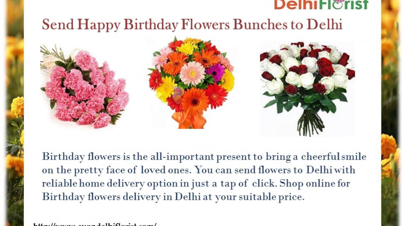 Birthday Flowers Delivery In Delhi Youtube