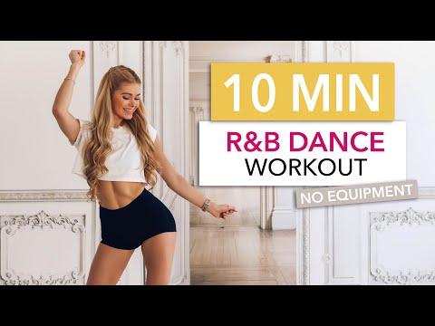 10 MIN R&B DANCE WORKOUT - a little sexy, a little gangster & for sure SWEATY! / Pamela Reif