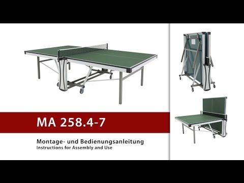Video: Table de tennis de table Sport-Thieme® « Roller II »
