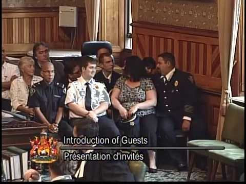 Kingsclear First Nation Fire Department Introduced to NB Legislature by MLA Brian Macdonald