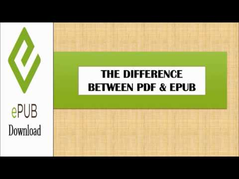 Difference between PDF and Epub