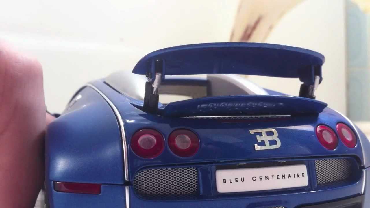 1:18 bugatti veyron bleu centenaire led umbau, full light packet