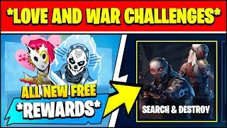 PLAY SEARCH u0026 DESTROY MATCHES, PLANT OR DEFUSE A BOMB (Fortnite LOVE AND WAR CHALLENGES u0026 REWARDS)