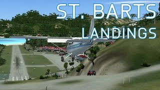 FSX On-Going Series - Episode 14 - Take Off and Landing at St.Barts