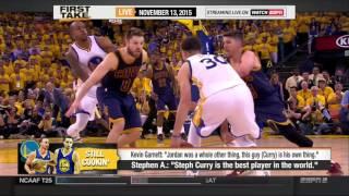 FIRST TAKE HD 11/13/2015 - Kevin Garnett compares Stephen Curry to Michael Jordan