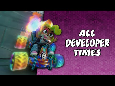 ALL Developer Time Trials (Mostly) With Acceleration (With Tips) | Crash Team Racing: Nitro Fueled