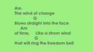 ScorpionschordslyricsWind of change
