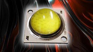 Лупатый COB світлодіод 50Вт. Розпакування.