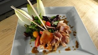 Grilled Marinated Yellow Fin Tuna With Summer Salad, Soy Cilantro Vinaigrette
