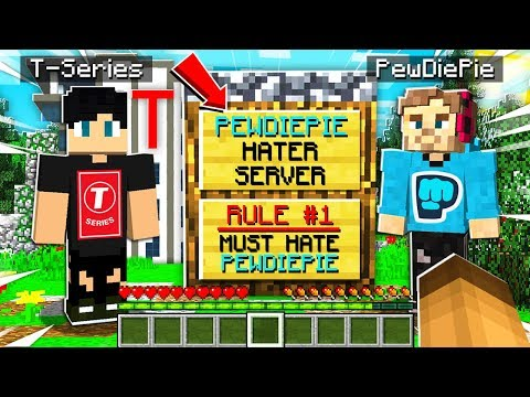 I Joined a PEWDIEPIE HATER Minecraft Server and FOUND T-SERIES OWNERS Secret