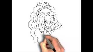How to draw Adagio Dazzle Human Equestria Girls My little pony