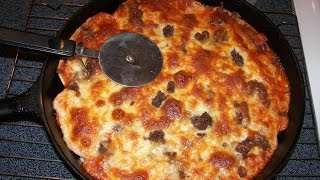 Turn Store Bought Pizza Into Cast Iron Deep Dish Pizza