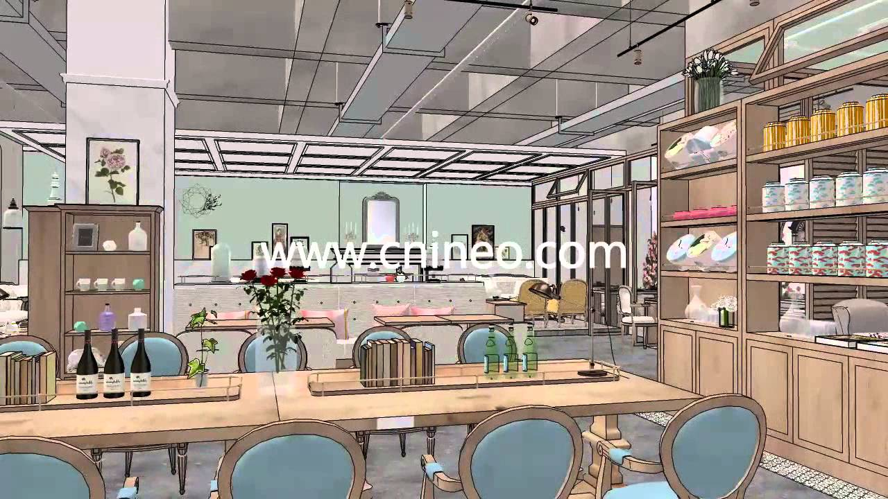 Coffee Shop | Kitchen Design Project | Coffee Shop 3D Design Show 3D  Animation   YouTube