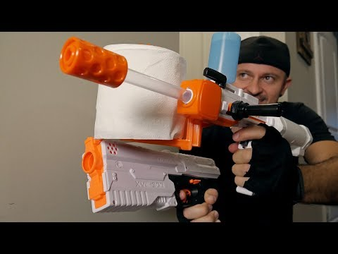 NERF WAR: Toilet Paper BLASTER