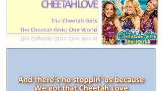 01 Cheetah Love - Official Karaoke / Instrumental (Lyrics)