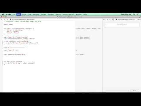 [Tutorial] Swift lernen 24: Dictionary thumbnail