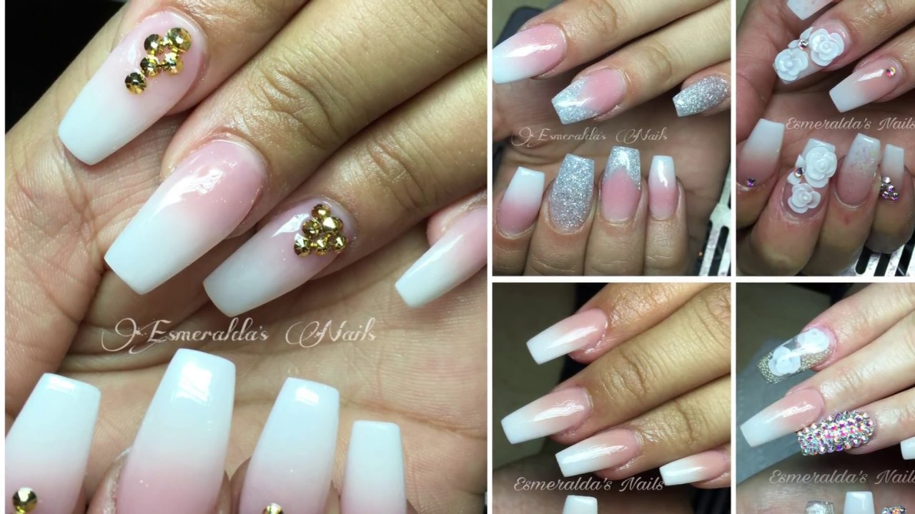 BABY BOOMER NAILS/ FRENCH DIFUMINADO PASO A PASO - YouTube