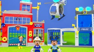 Micky Maus Wunderhaus: Feuerwehrmann Spielzeugautos & Roadster Racers | Disney Polizei Unboxing