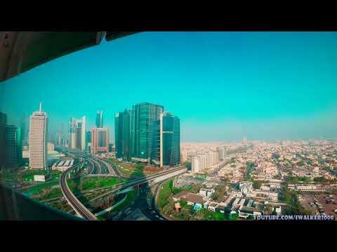 Путевые Заметки,ОАЭ,июнь 2020: Dubai Sheikh Zayed Road Timelapse-вид на центр Дубаи из окна кабинета